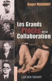Couverture du livre : Les Grands Procès de la Collaboration