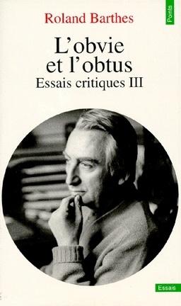 Couverture du livre : L'obvie et l'obtus : Essais critiques III