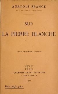 Couverture du livre : Sur la pierre blanche