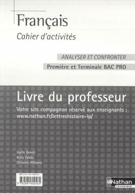 Francais Bac Pro 1re Et Terminale Professionnelles Livre