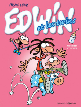 Couverture du livre : Edwin et les twins, tome 1 : Premières couches