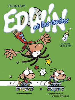 Couverture du livre : Edwin et les twins, tome 2 : Tsunamis à roulettes