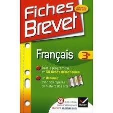 Fiches Brevet Francais 3 Livre De Sylvie Dauvin Jacques