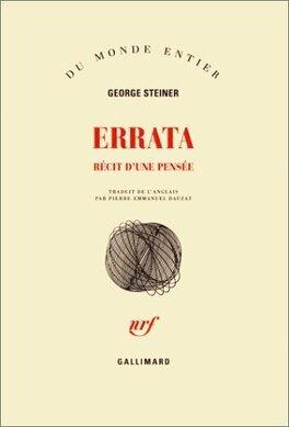 Couverture du livre : Errata : récit d'une pensée