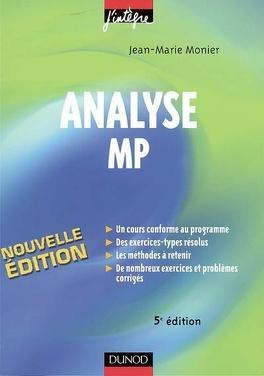 Couverture du livre : Analyse MP : cours, méthodes et exercices corrigés