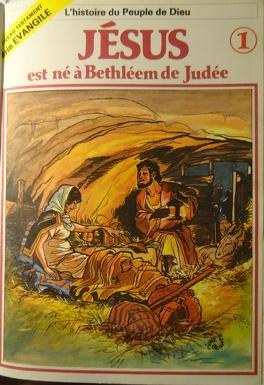 Couverture du livre : La bible en bande dessinée (Nouveau testament), tome 1 : Jésus est né à Bethléem de Judée