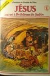 couverture La bible en bande dessinée (Nouveau testament), tome 1 : Jésus est né à Bethléem de Judée