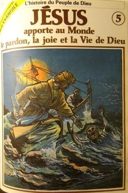 Couverture du livre : La bible en bande dessinée (Nouveau testament), tome 5 : Jésus apporte au Monde le pardon, la joie et la Vie de Dieu