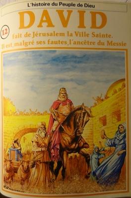 Couverture du livre : La bible en bande dessinée, tome 12 (ancien testament): David fait de Jérusalem la ville Sainte. Il est, malgré ses fautes, l'ancêtre du Messie