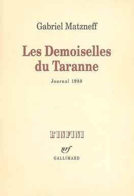 Couverture du livre : Les demoiselles de Taranne : journal 1988