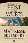 couverture La Trilogie de l'empire, Tome 3 : Maîtresse de l'empire