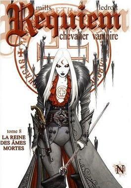 Couverture du livre : Requiem, Chevalier Vampire, tome 8 : La Reine des âmes mortes