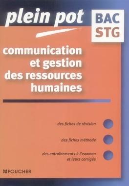 Communication Et Gestion Des Ressources Humaines Bac Stg Livre De Nathalie Cansouline