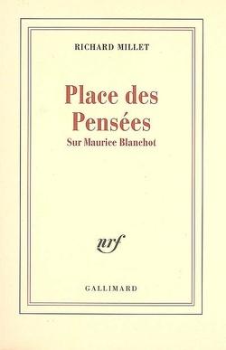 Couverture de Place des pensées : sur Maurice Blanchot