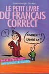 couverture Le petit livre du français correct