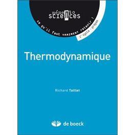 Couverture du livre : Thermodynamique