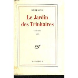 Couverture du livre : Le Jardin des Trinitaires