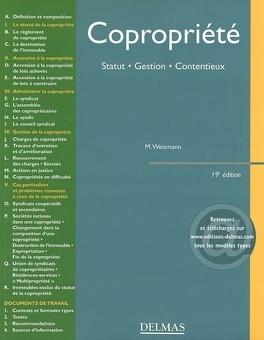 Couverture du livre : Copropriété : statut, gestion, contentieux