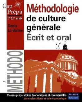 Couverture du livre : Méthodologie de culture générale - Écrit et oral