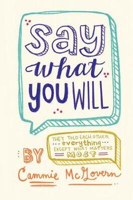 Couverture du livre : Say What You Will