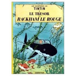 Couverture du livre : Les Aventures de Tintin, Tome 12 : Le Trésor de Rackham le Rouge
