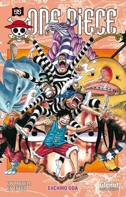 Couverture du livre : One Piece, Tome 55 : Un travelo en enfer