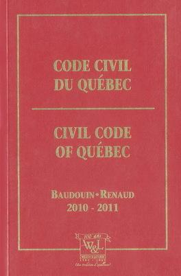 Couverture du livre : Code Civil du Québec