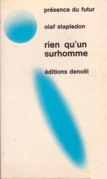 Couverture du livre : Rien qu'un surhomme