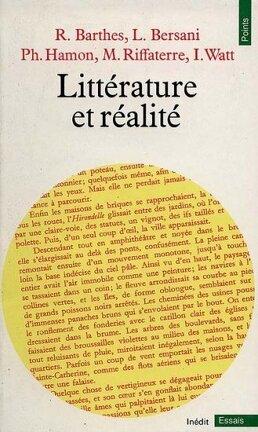 Couverture du livre : Littérature et réalité