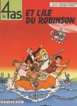 Couverture du livre : Les 4 As, Tome 9 : Les 4 As et l'île du Robinson