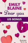 couverture Dear You - Les Bonus