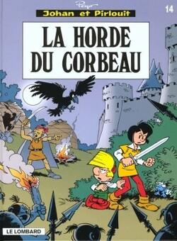 Couverture de Johan et Pirlouit, Tome 14 : La Horde du corbeau
