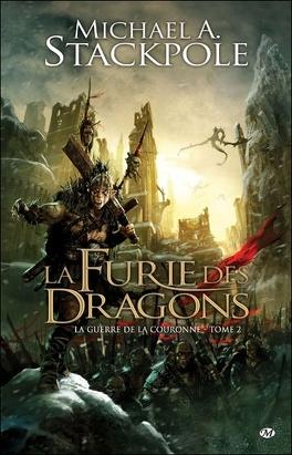Couverture du livre : La Guerre de la Couronne, tome 2 : La furie des dragons