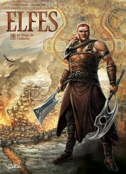 Couverture de Elfes, tome 9 : Le siège de Cadanla