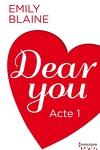 couverture Dear You, Acte 1
