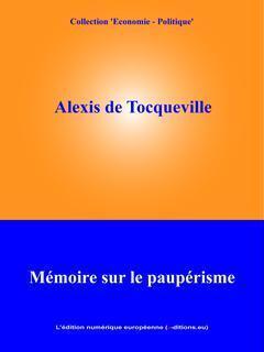 Couverture du livre : Mémoire sur le paupérisme