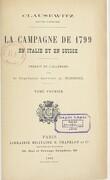Campagne de 1799 en Italie et en Suisse