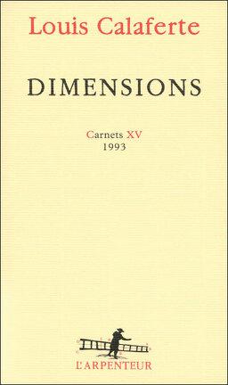 Couverture du livre : Dimensions, Carnets XV, 1993