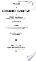Couverture du livre : Précis d'histoire moderne