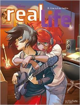 Couverture du livre : Real Life, Tome 8 : Une nuit au théâtre