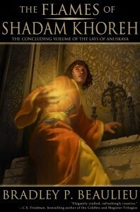 Couverture du livre : Lays of Anuskaya, Tome 3 : The Flames of Shadam Khoreh