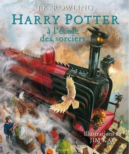 Couverture du livre : Harry Potter, tome 1 : Harry Potter à l'école des sorciers (Illustré)