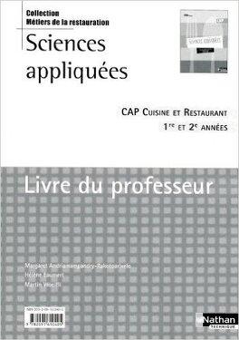 Sciences Appliquees Cap Cuisine Et Restaurant Livre Du