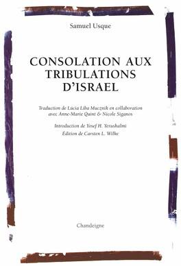 Couverture du livre : Consolation aux tribulations d'Israël : 1553