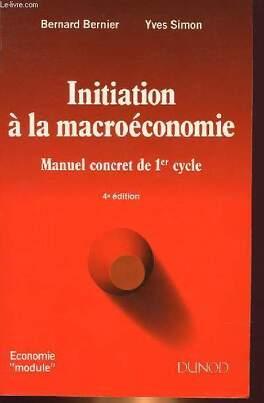 Couverture du livre : Initiation à la macroéconomie