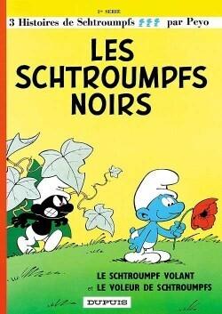 Couverture du livre : Les Schtroumpfs, Tome 1 : Les Schtroumpfs noirs