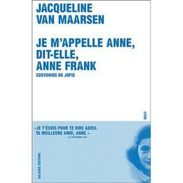 Couverture du livre : Je m'appelle Anne, dit-elle, Anne Frank