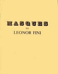 Couverture du livre : Les Masques de Léonor Fini
