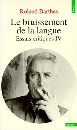 Couverture du livre : Le bruissement de la langue : Essais critiques IV