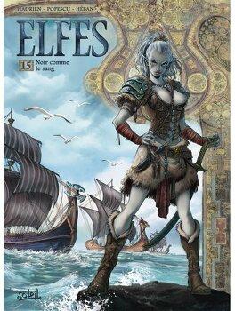 Couverture du livre : Elfes, Tome 15 : Noir comme le sang
